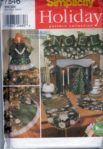 Simplicity 7846 Christmas Holiday Decor Craft Sewing Pattern 1990's - VintageStitching - Vintage Sewing Patterns