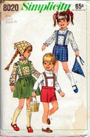 Simplicity 8020 Toddlers Skirt Blouse Pants Vintage 1960's Sewing Pattern - VintageStitching - Vintage Sewing Patterns