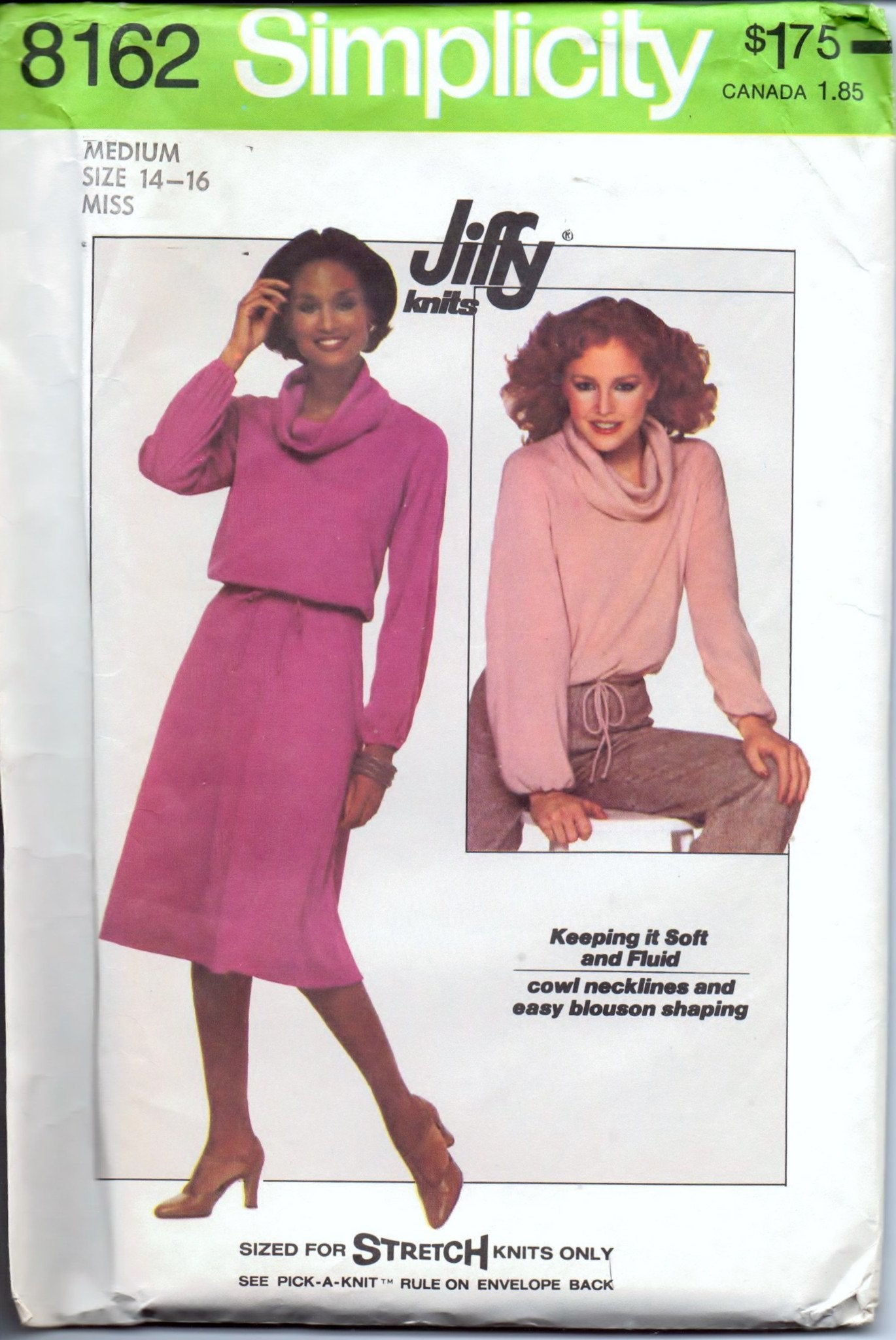 Simplicity 8162 Ladies Separates Top Skirt Vintage 1970's Sewing Pattern - VintageStitching - Vintage Sewing Patterns