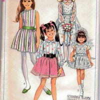 Simplicity 8171 Girls One Piece Communion Easter Dress Vintage Pattern - VintageStitching - Vintage Sewing Patterns