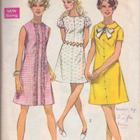 Simplicity 8189 A-Line Dress Vintage Sewing Pattern - VintageStitching - Vintage Sewing Patterns
