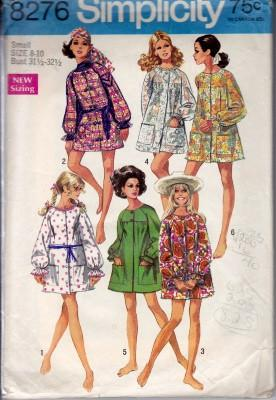 Simplicity 8276 Ladies Beach Coverup Bathing Suit Robe Vintage Pattern Swim - VintageStitching - Vintage Sewing Patterns
