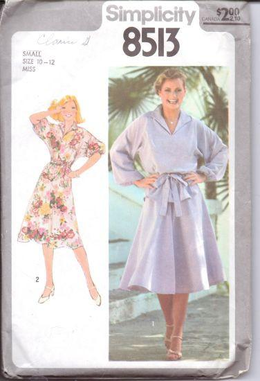 Simplicity 8513 Ladies Pullover Dress Vintage 1970's Sewing Pattern - VintageStitching - Vintage Sewing Patterns