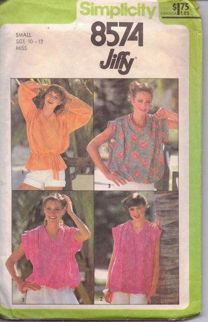 Simplicity 8574 Ladies Pullover Top Jiffy Vintage Sewing Pattern - VintageStitching - Vintage Sewing Patterns