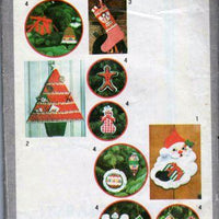 Simplicity 8721 Christmas Ornaments Decoration Crafts Vintage 1970's Pattern - VintageStitching - Vintage Sewing Patterns