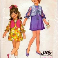 Simplicity 9291 Little Girls Party Dress Bolero Vintage Sewing Pattern - VintageStitching - Vintage Sewing Patterns