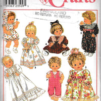 Simplicity Crafts 8956 Baby Doll Clothes Sewing Pattern - VintageStitching - Vintage Sewing Patterns