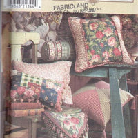Simplicity Home 8044 Pillows In Twelve Styles Craft Sewing Pattern - VintageStitching - Vintage Sewing Patterns