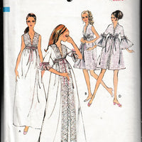 Style 2957 Ladies Nightgown Negligee Lingerie Vintage 1970's Sewing Pattern - VintageStitching - Vintage Sewing Patterns