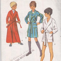 Style 3227 Boys Bath Robe Wrap Style Vintage Sewing Pattern 1970's - VintageStitching - Vintage Sewing Patterns