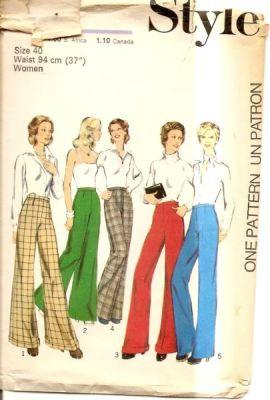 Style 4841 1970's Vintage Sewing Pattern Ladies Pants Trousers - VintageStitching - Vintage Sewing Patterns