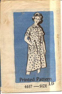 Vintage 1960's Mail Order Sewing Pattern Ladies House Dress - VintageStitching - Vintage Sewing Patterns