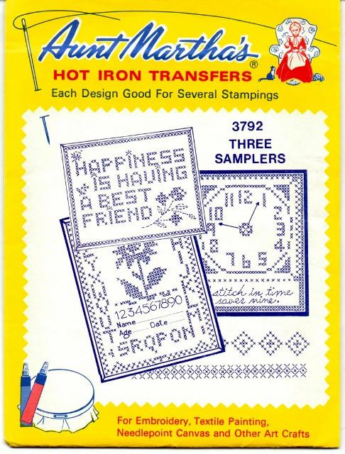Vintage Transfer Pattern Aunt Martha's Embroidery Samplers 3792 - VintageStitching - Vintage Sewing Patterns