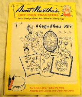 Vintage Transfer Pattern Gaggle of Geese Aunt Martha's 3819 - VintageStitching - Vintage Sewing Patterns