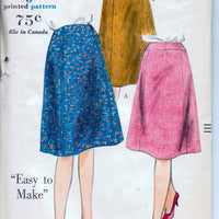 Vogue 5322 Ladies Gored Skirt Vintage 1960's Sewing Pattern Waist 24 - VintageStitching - Vintage Sewing Patterns