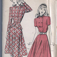 Advance 4693 Teen Two Piece Dress Vintage Sewing Pattern 1940s