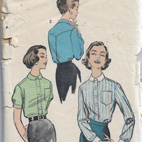 Advance 8688 Front Buttoned Blouse Shirt Vintage Sewing Pattern