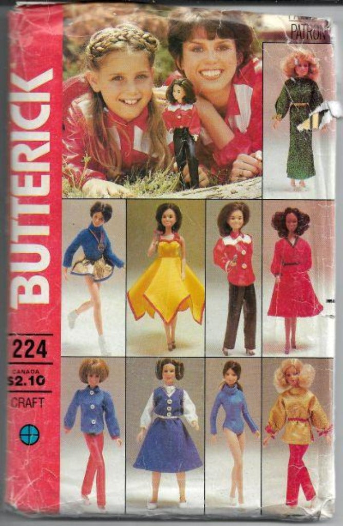 Butterick 224 Barbie Doll Clothing Vintage Sewing Craft Pattern Marie Osmond - VintageStitching - Vintage Sewing Patterns