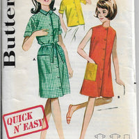 Butterick 2691 Girls Button Blouse Beach Dress Vintage Sewing Pattern 1960s - VintageStitching - Vintage Sewing Patterns