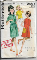 beach dress butterick 2691 1960s