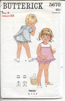 butterick 5670 toddlers dress vintage