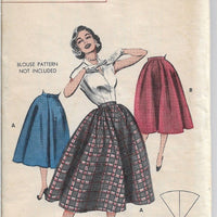 Butterick 6889 Vintage Sewing Pattern 1950s Ladies Gathered Skirt - VintageStitching - Vintage Sewing Patterns
