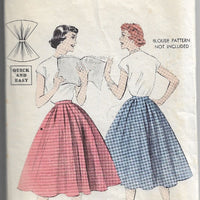 Butterick 7327 Vintage Sewing Pattern 1950s Ladies Full Skirt - VintageStitching - Vintage Sewing Patterns