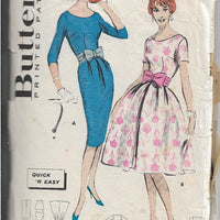 Butterick 8902 Ladies Sheath Rockabilly Dress Vintage Sewing Pattern 1950s - VintageStitching - Vintage Sewing Patterns
