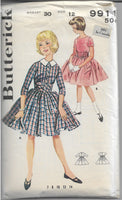 butterick 9911 dress vintage pattern 1960s