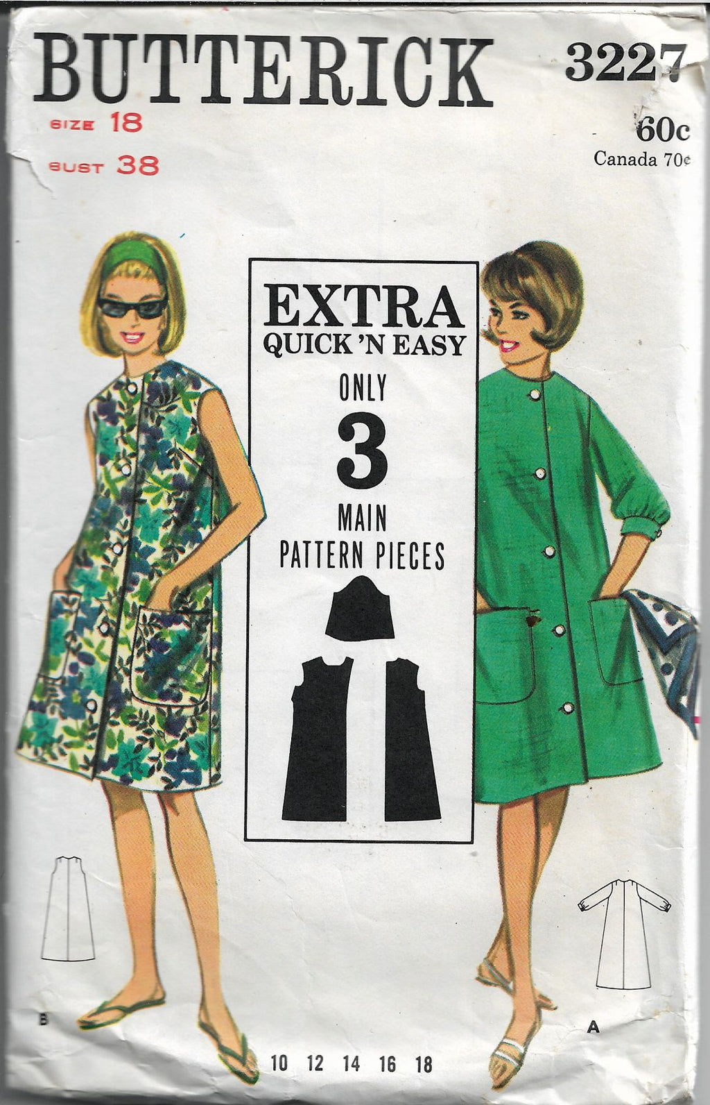 butterick 3227 beach dress vintage pattern 1960s