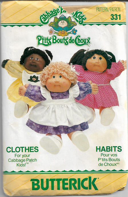 butterick 331 cabbage patch vintage pattern