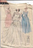 butterick 5627 wedding dress 1950s