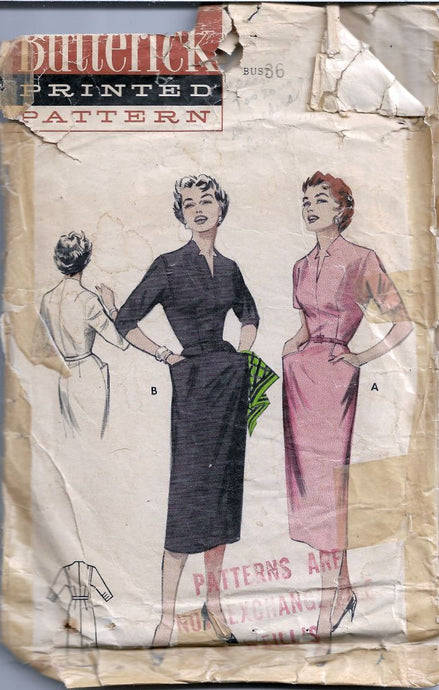 Butterick 6960 Slim Sheath Dress Vintage Sewing Pattern