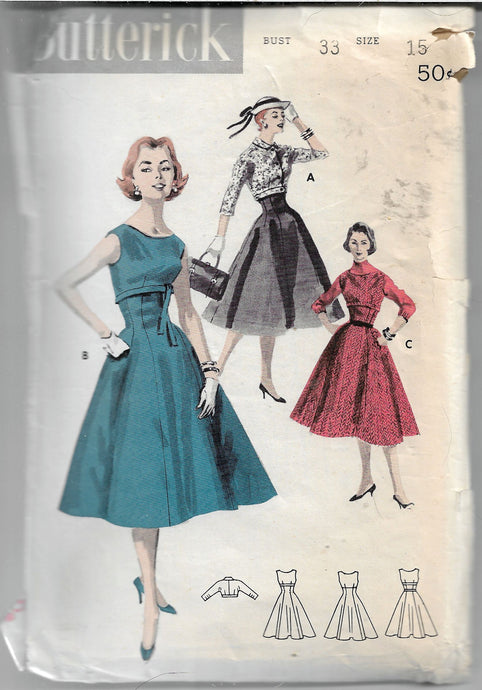 butterick 7718 jumper dress jacket vintage pattern