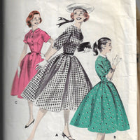 butterick 8052 jr miss vintage dress pattern