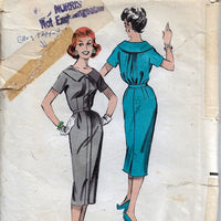 Butterick 8527 Ladies Portrait Collar Dress Vintage Sewing Pattern