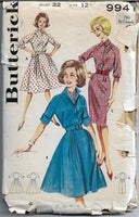 butterick 9941 dress vintage pattern 1960s