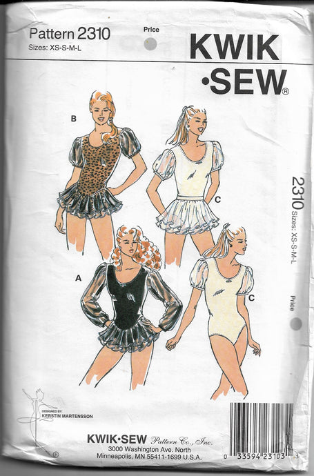 kwik sew misses leotard pattern