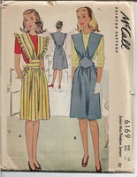 pinafore dress mccall 6169 1940s