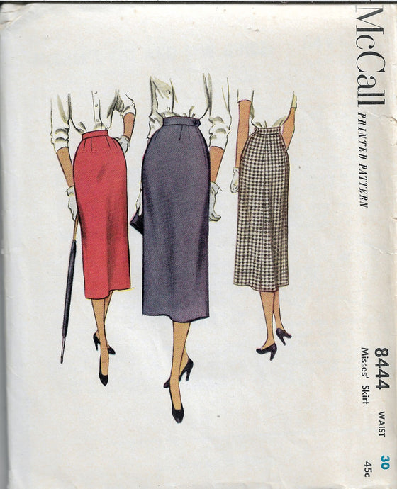 mccall 8444 vintage sewing pattern 1950s skirt