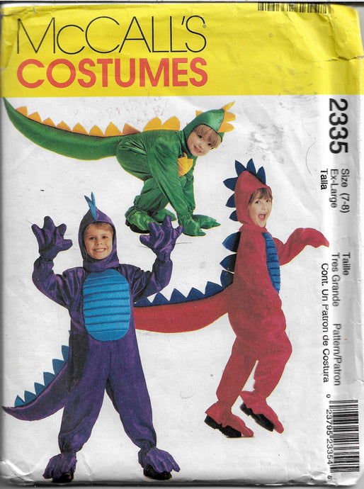 mccalls 2335 dragon costume pattern