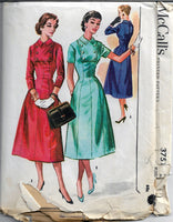 mccalls 3751 vintage sewing pattern dress