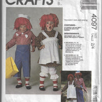 McCall's 4097 Vintage Halloween Costume Pattern Raggedy Ann Andy - VintageStitching - Vintage Sewing Patterns
