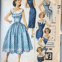 ladies dress vintage 1950s pattern mccalls 4120