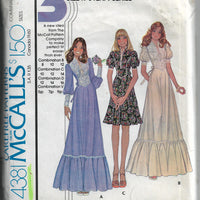 mccalls 4381 dress gown vintage pattern