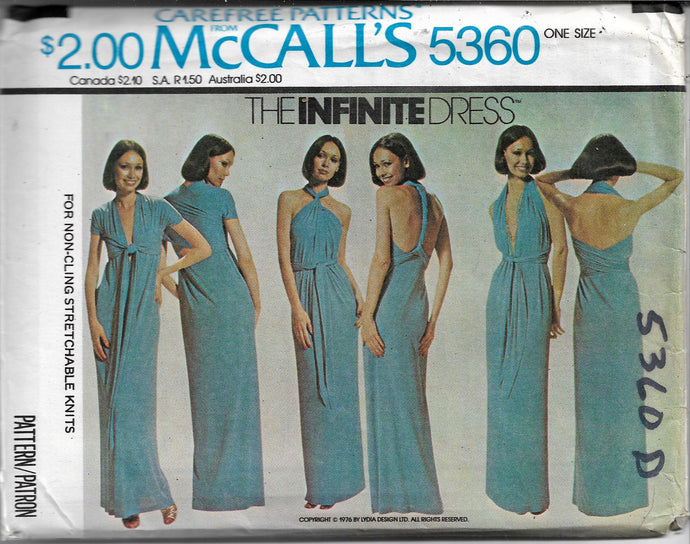 mccalls 5360 dress vintage pattern 1960s