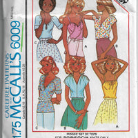mccalls 6009 ladies tops vintage pattern 1970s