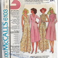 mccalls 6103 dress gown vintage sewing pattern