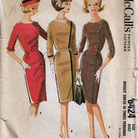 McCalls 6424 Sheath Wiggle Dress Vintage Sewing Pattern