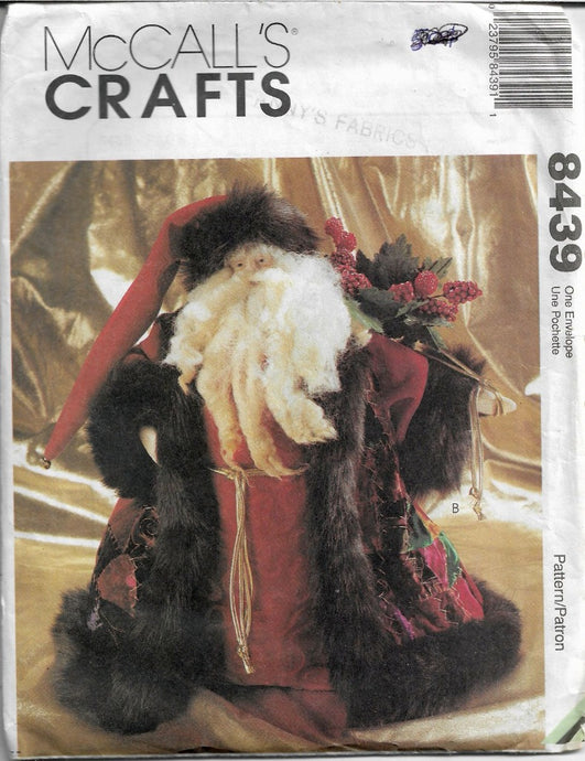 McCall's Crafts 8439 Father Christmas Doll Sewing Pattern - VintageStitching - Vintage Sewing Patterns